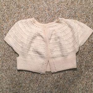 Vintage handmade crochet cropped cardigan